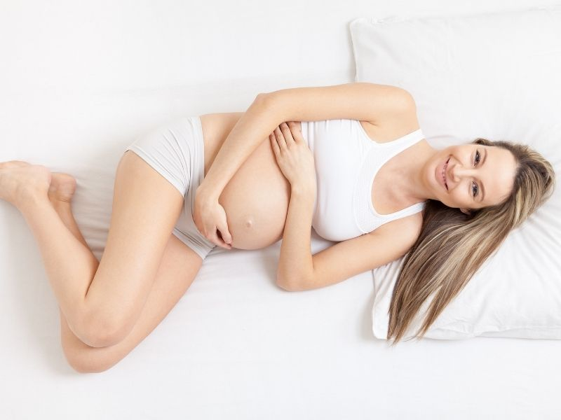pregnant woman happy